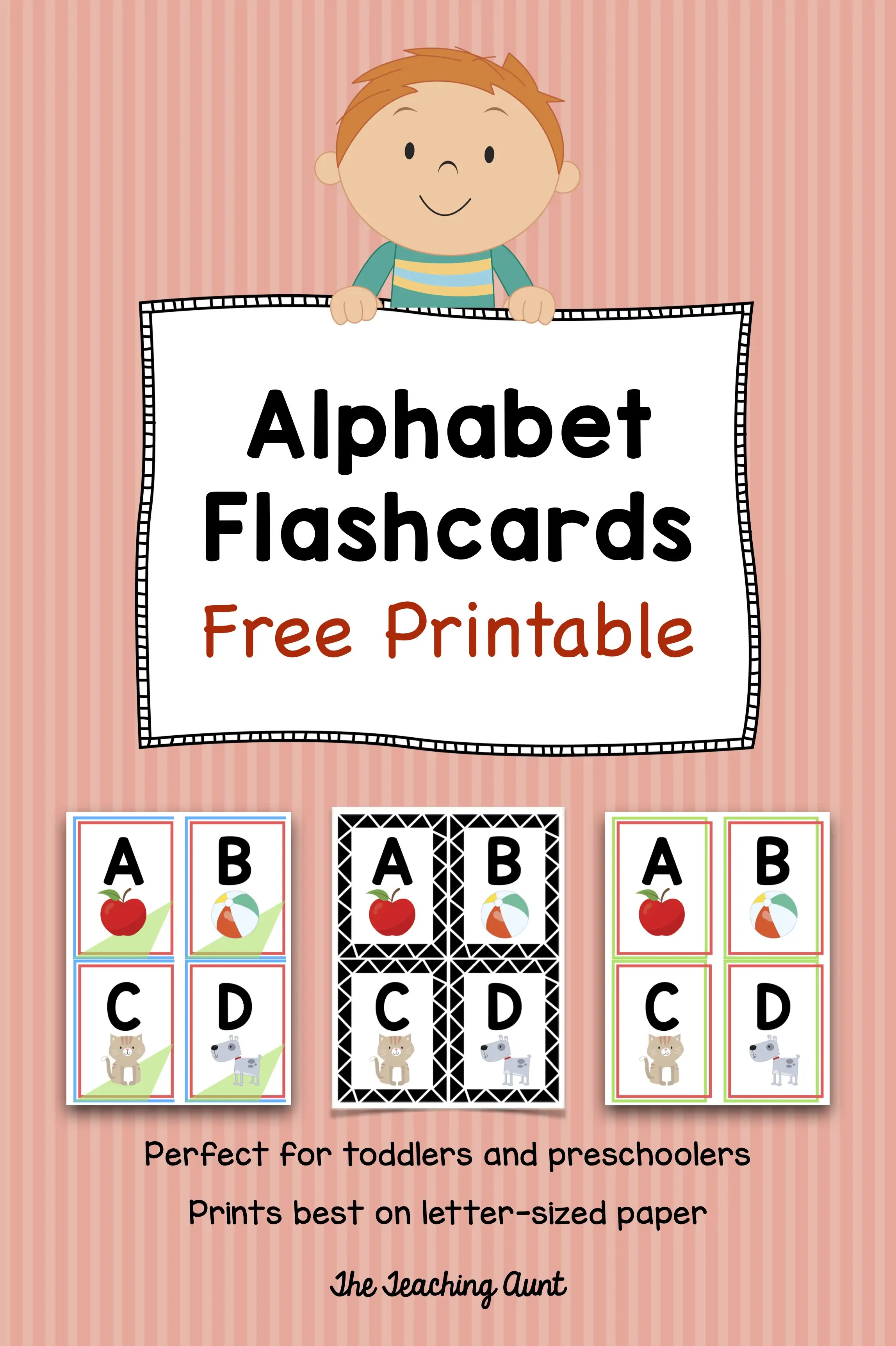 picture about Printable Toddler Flash Cards named Alphabet Flashcards Cost-free Printable - The Instruction Aunt