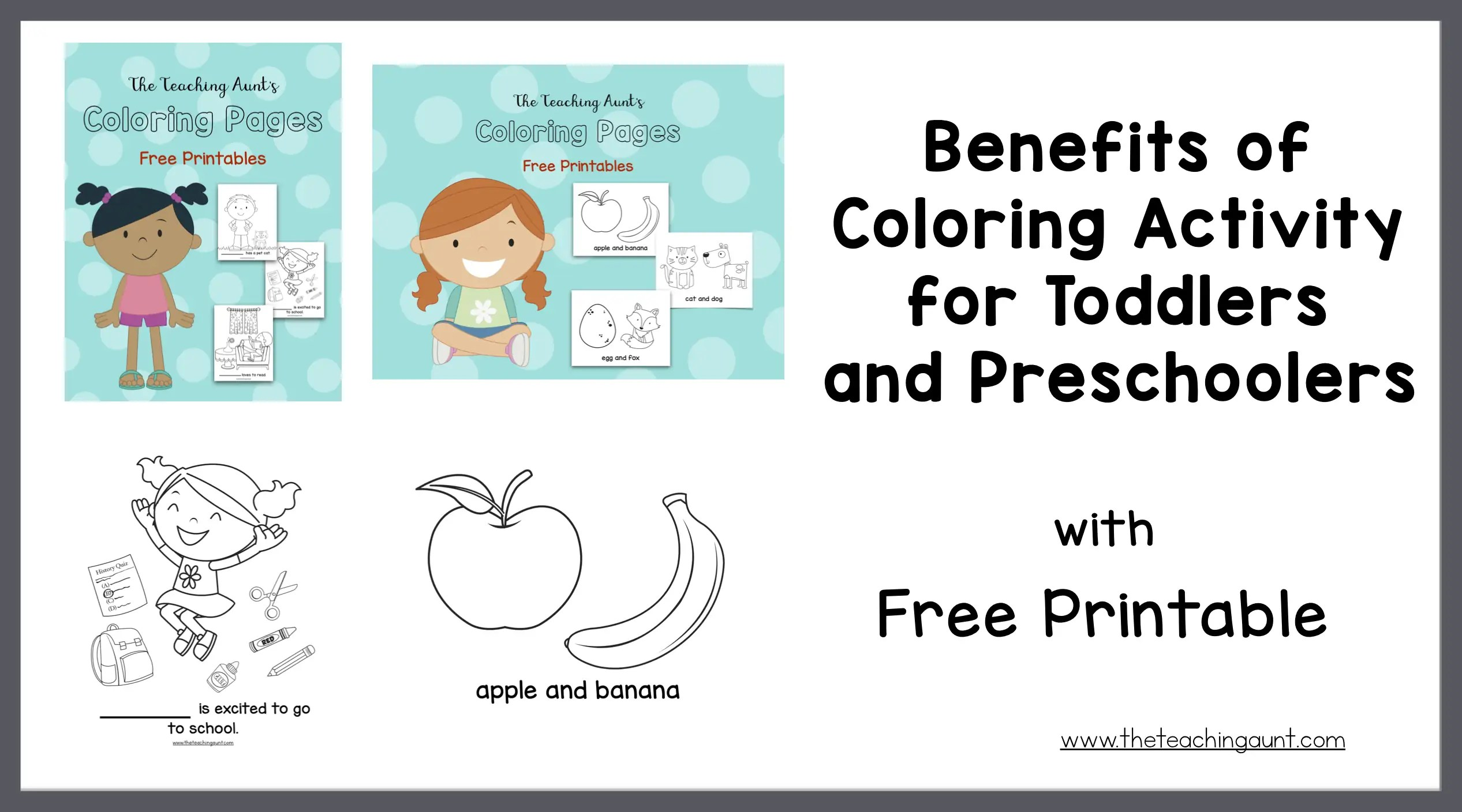 - Benefits Of Coloring Activity For Toddlers And Preschoolers - The Teaching  Aunt