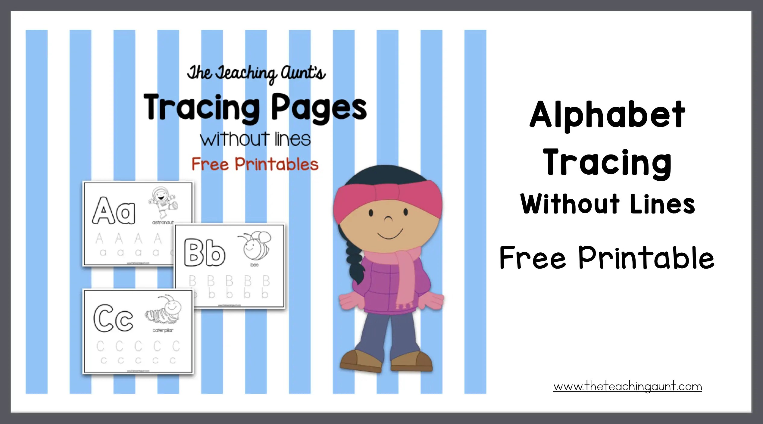 picture about Alphabet Line Printable identified as Alphabet Tracing Without having Strains Totally free Printable - The Instruction