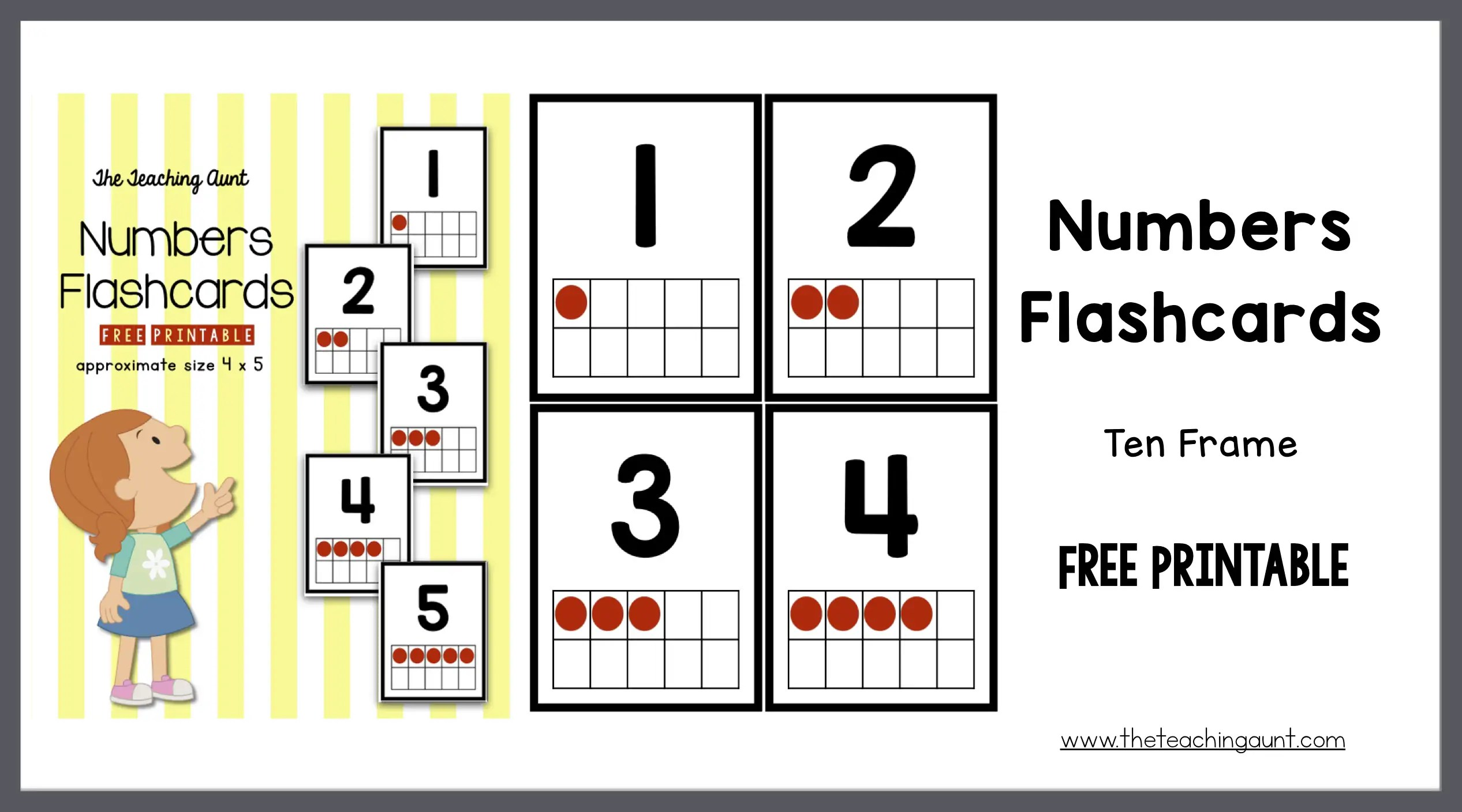 graphic relating to Printable Tens Frames named Quantities Flashcards 10 Body - The Coaching Aunt