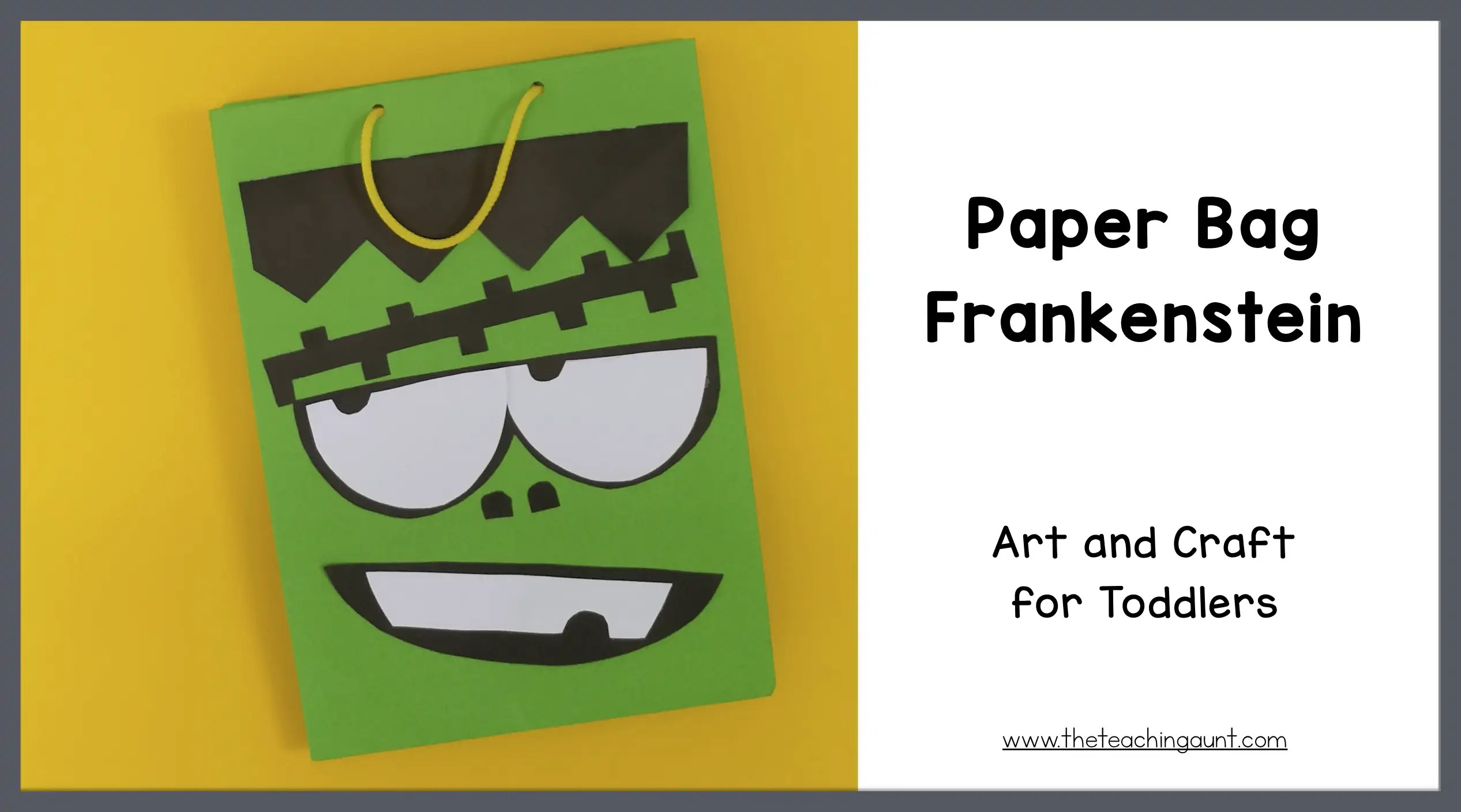 Paper Bag Frankenstein Craft