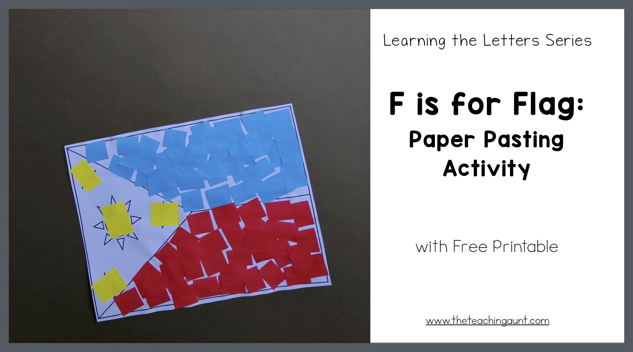 F is for Flag: Paper Pasting Activity
