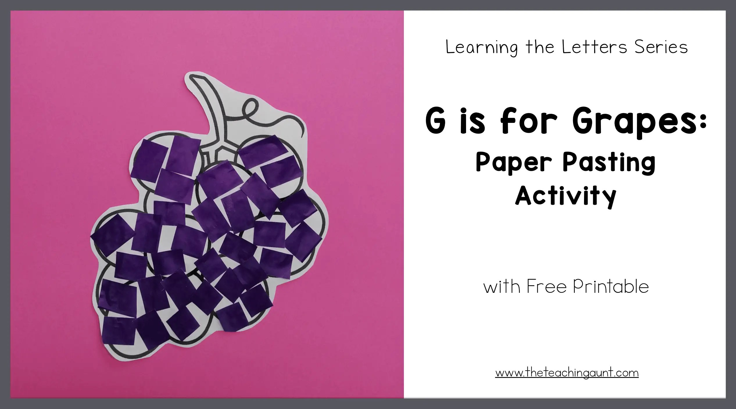 G is for Grapes: Paper Pasting Activity