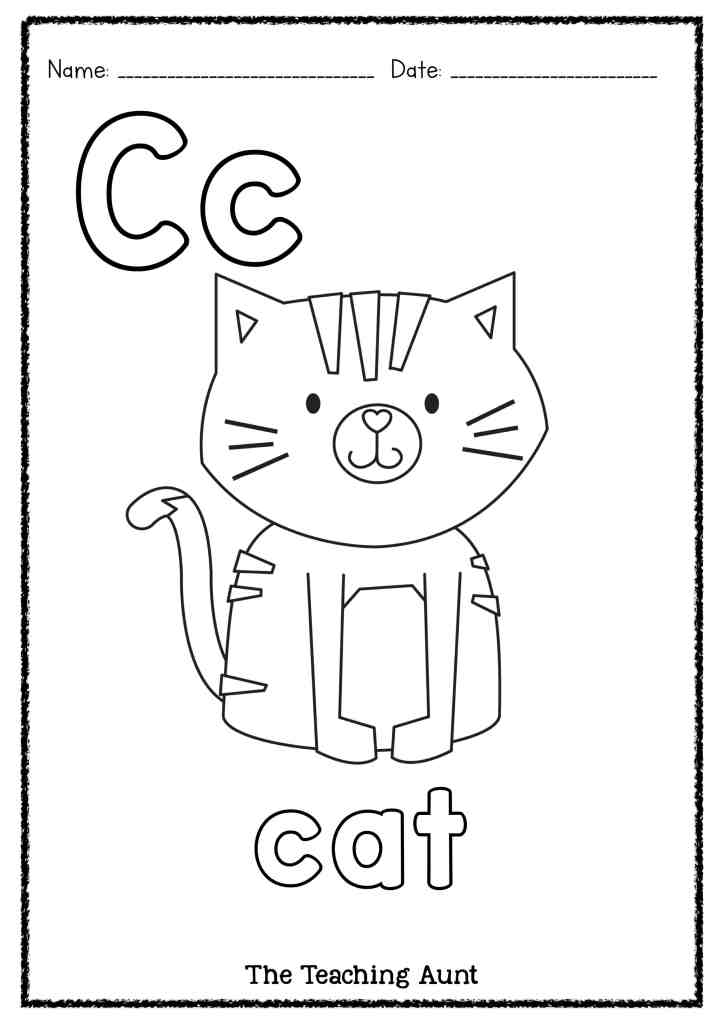 C is for Cat Art and Craft - The Teaching Aunt