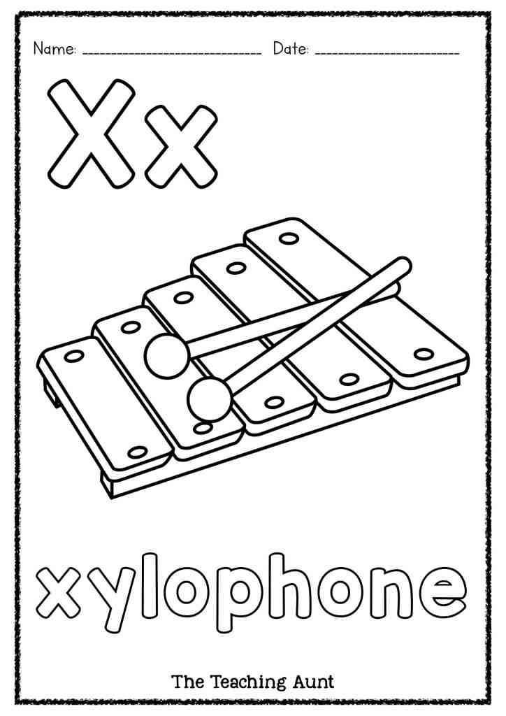 X Is For Xylophone Art And Craft The Teaching Aunt