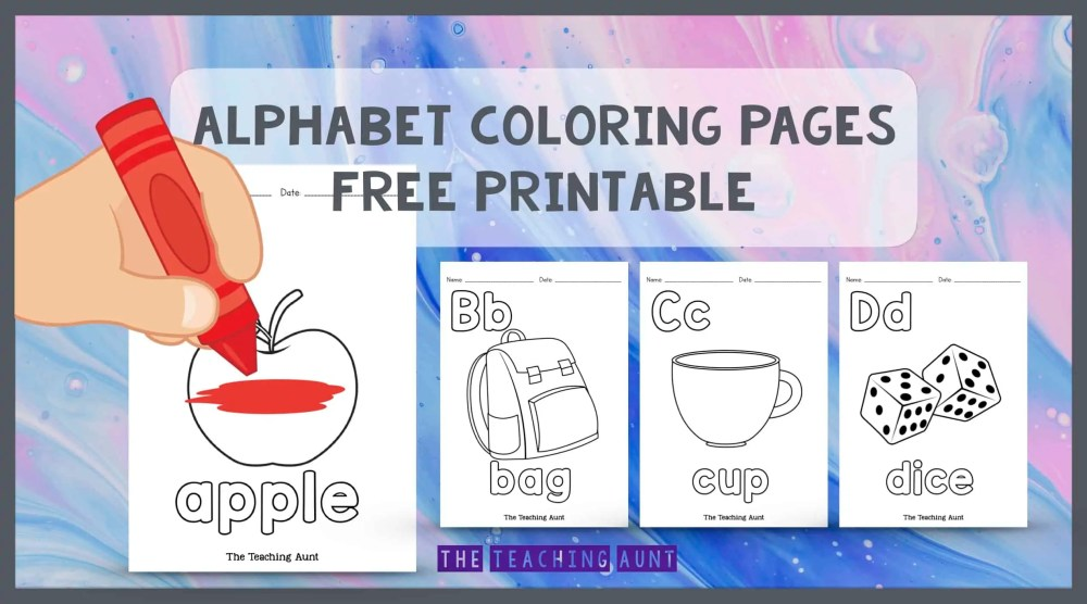 Alphabet Coloring Pages Free Printable The Teaching Aunt