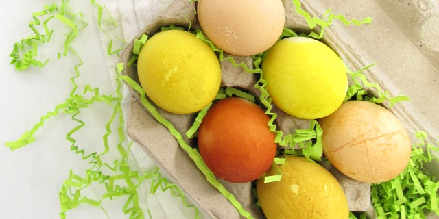 Tea Dyed Easter Eggs