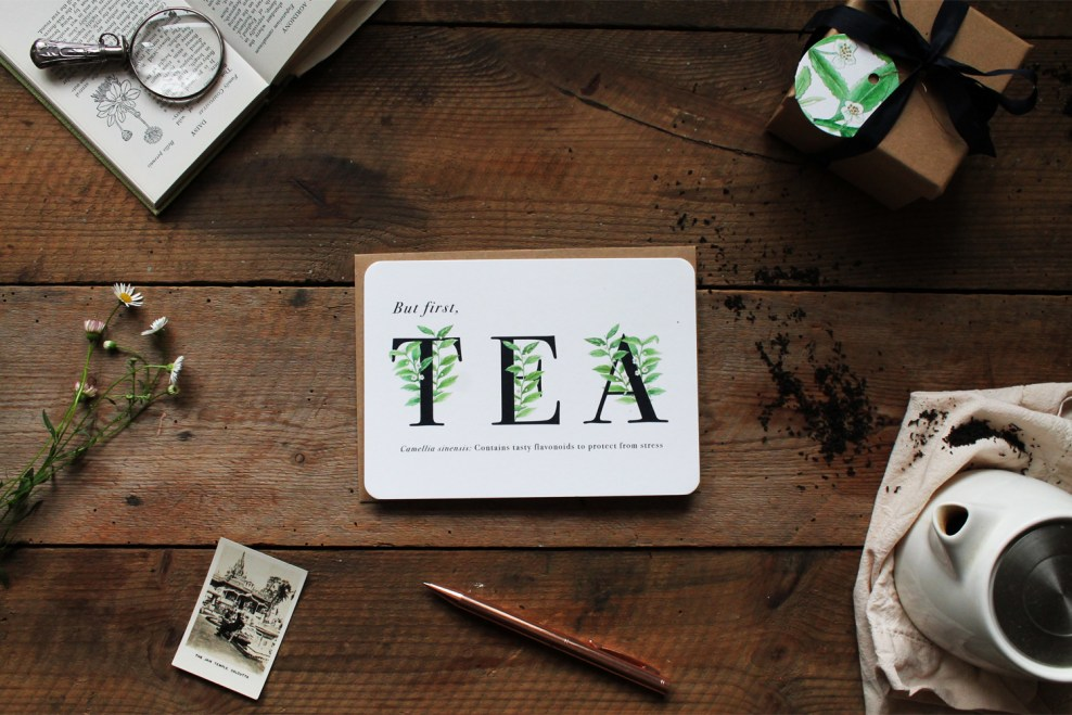 But First, Tea Greeting Card