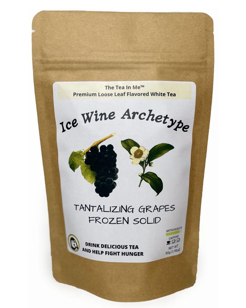A bag of Ice The Tea In Me Wine Archetype loose leaf tea