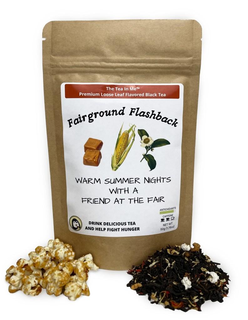 Kraft bag of The Tea In Me Fairground Flashback loose leaf tea