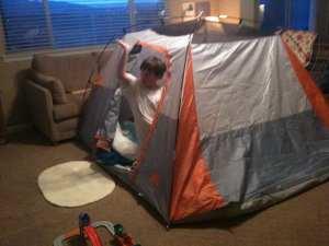 Backyard Camping #2 April 9 2012