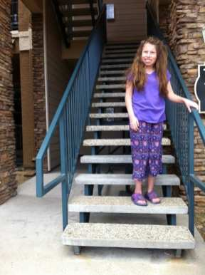 Lillian Going Up Stairs June 15 2016 #1