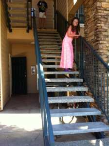 Lillian going up 8 steps July 5 2016
