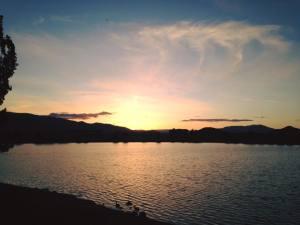Solo Sunset Walk Vintage Lake 5.8.17