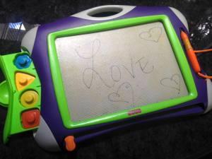 Purple Etch a Sketch Lillian 7.28.17