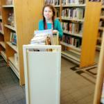 Lillian Volunteering at Library 1.10.18 #2