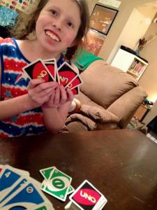 UNO with Lillian 2.9.18 #1