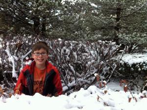 Thomas in Snow 12.28.15