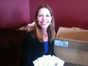 Camilla with shipment of D iz for Different Books 2012