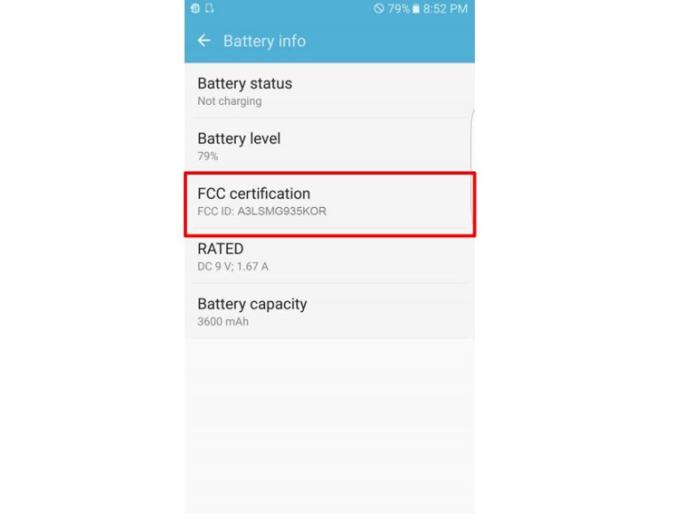 S7 Battery Confirmation
