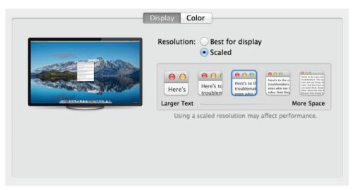 Mac OS Scaling