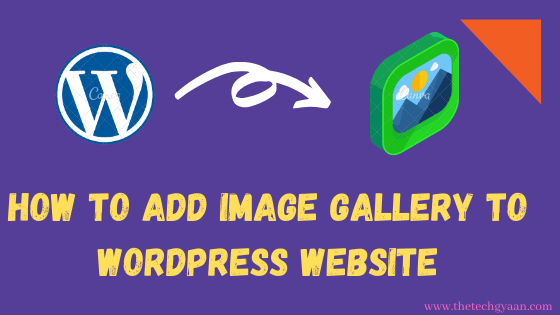 How to add Image Gallery in WordPress Website