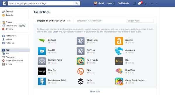 Facebook Apps Blocking