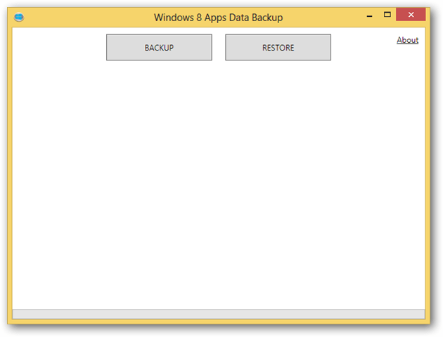 Windows 8 Apps Data Backup Software