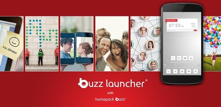Customize Android Home Screen and Themes using Buzz Launcher