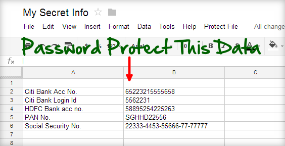 Password Protected Sheet