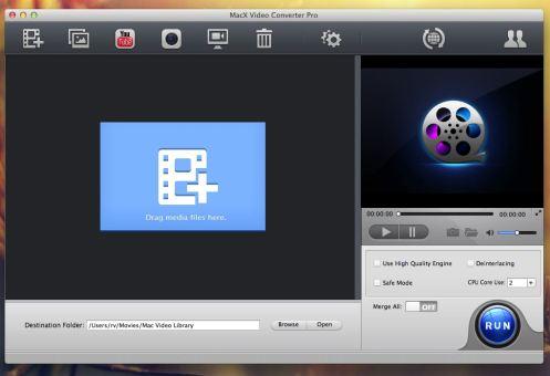 MacX Video Converter Pro UI