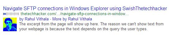 Rich Snippets Without Date
