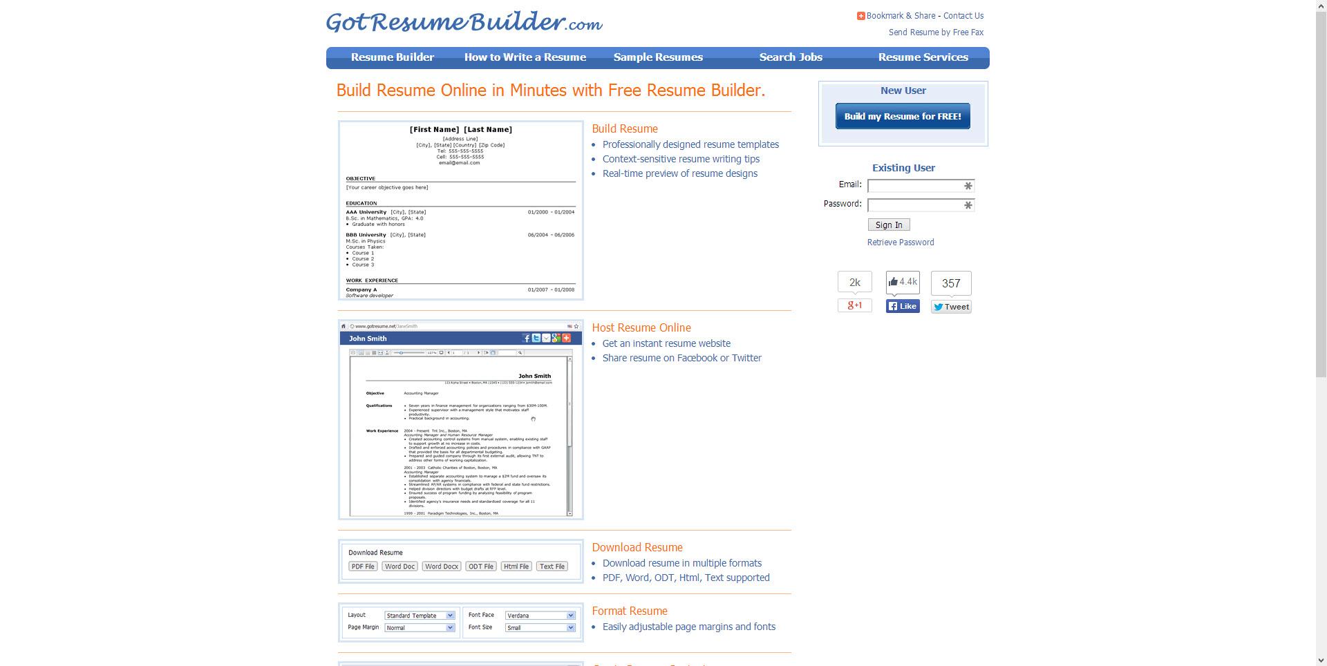 Best Websites For Resume Building