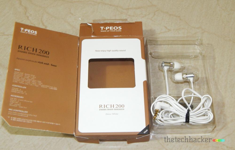 T-Peos Rich200 Box Contents