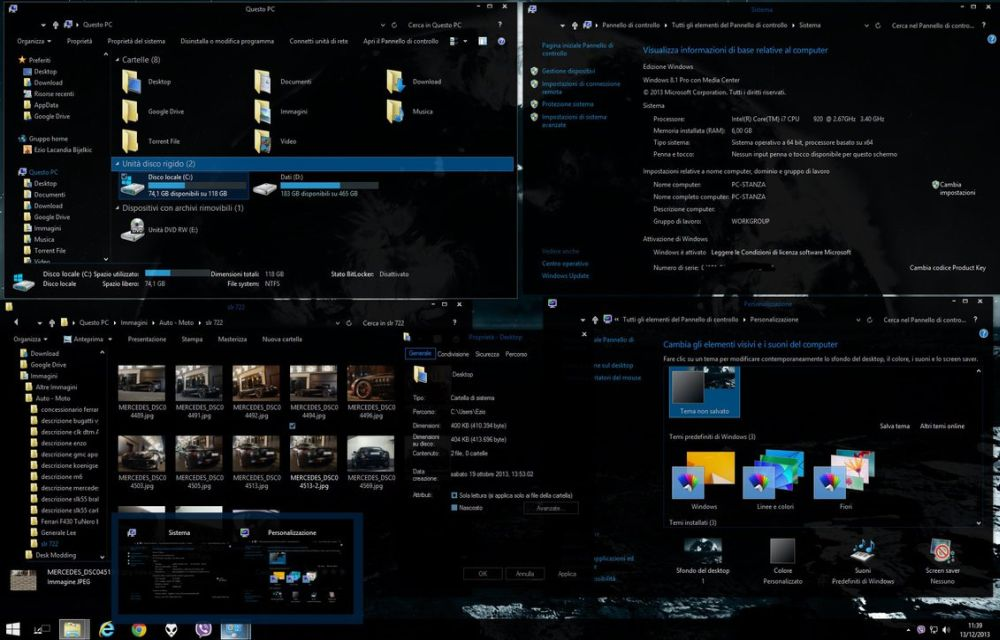 Abisso 2014 Dark Theme for Windows 8