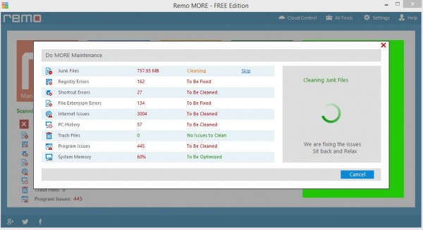 Remo MORE Fixing Issues