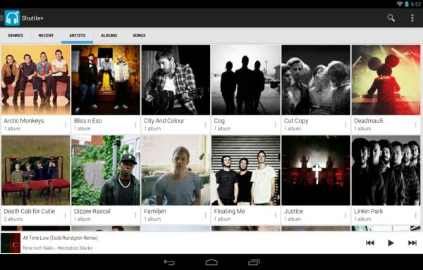 Shuttle Music Player for android devices