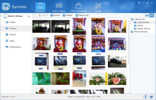 SynciOS Photo Manager