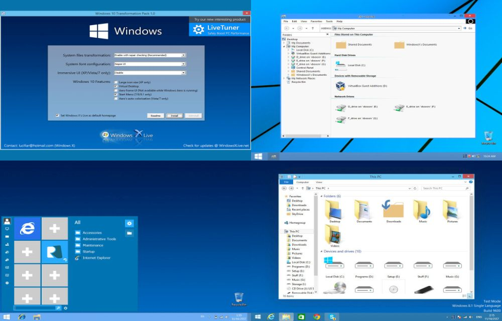 Turn Old Windows Versions Into Latest 10 With A Transformation Pack