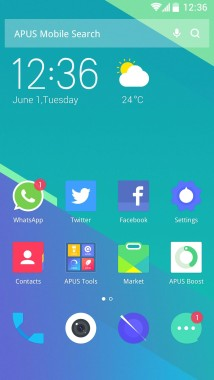 APUS Launcher homescreen