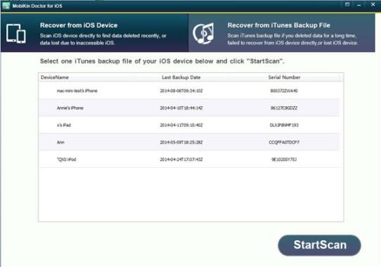 Restoring files using iTunes Backup File