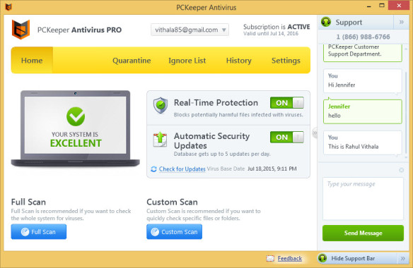 PCKeeper Antivirus Customer Support