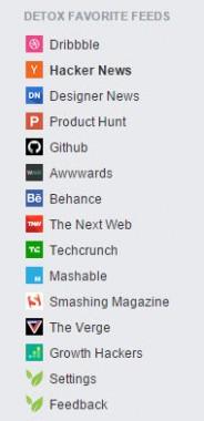 Detox Supported Websites