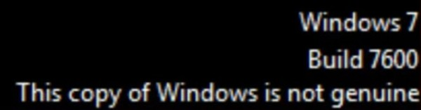 This copy of windows is not genuine build 7600