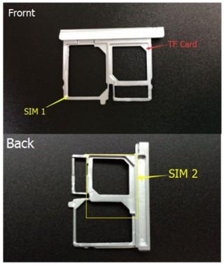 Bluboo Xtouch SIM Slots