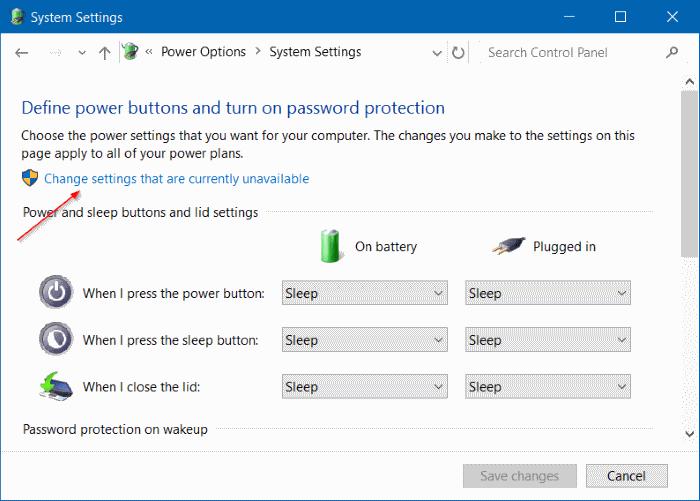 Enable Hibernate in Windows 10 - Step 4