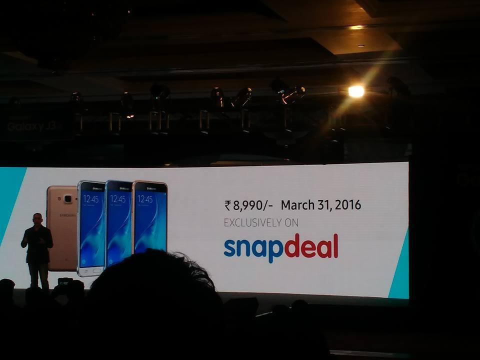 Samsung J3 launch