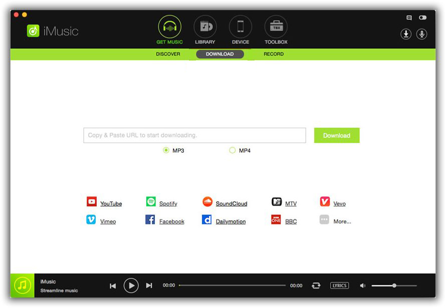 iSkysoft iMusic Main Download Music