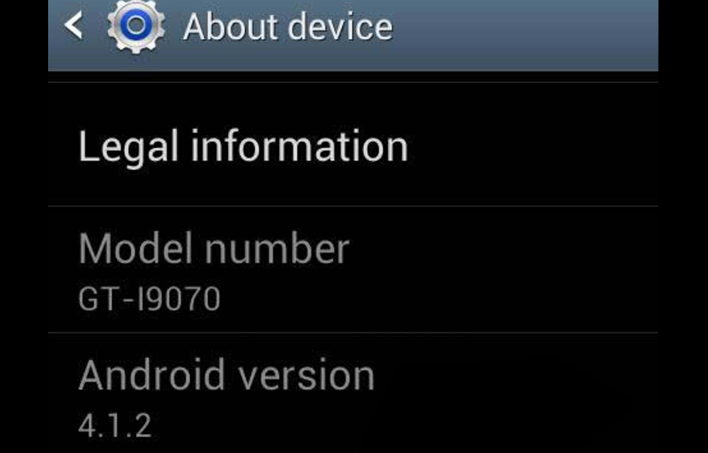 Check Current Android Version of your Device