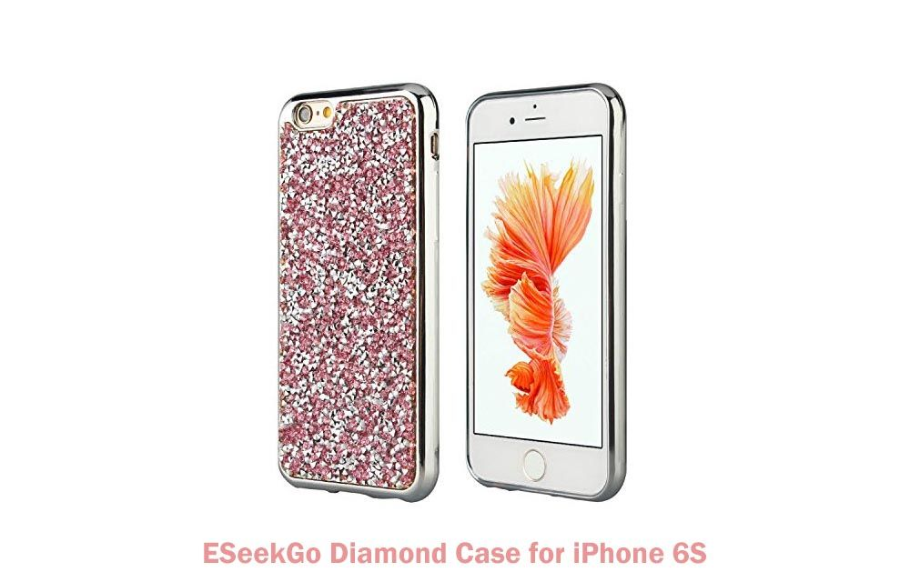 ESeekGo Diamond Case for iPhone 6S - Back Cover Case for iPhone